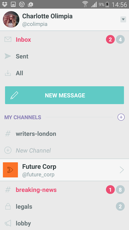 Mainframe: Productive Messaging for the Workplace- screenshot