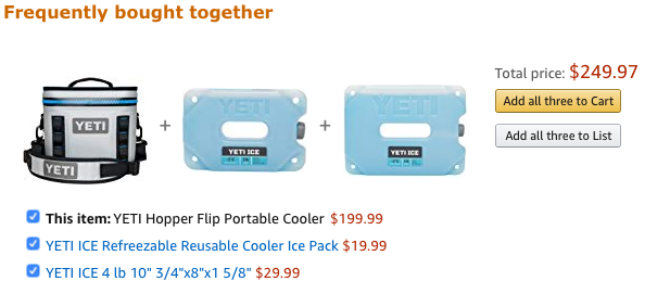 Frequently bought together example