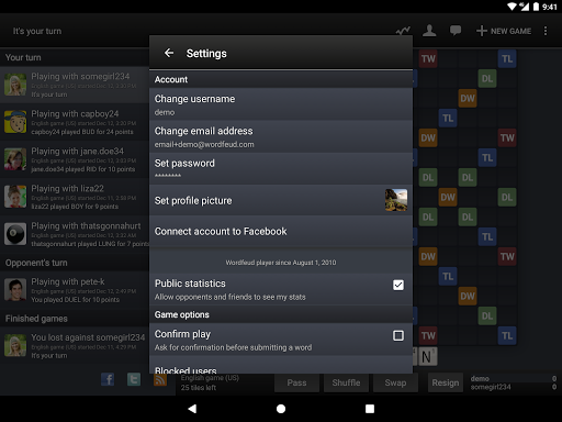 Wordfeud FREE screenshot 14