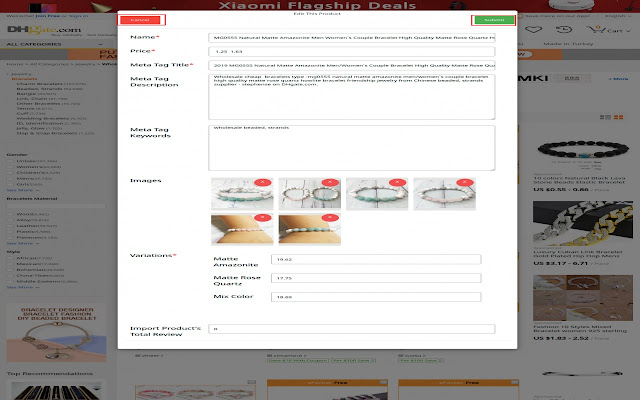 Opencart dhgate Product Importer