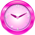 Pink Analog Clock Widget Icon