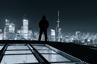 Photo: When the City is Mine It had been quite some time, but I finally made it back to one of my favorite places in the city. There's just something about it that makes me feel like the city is indeed mine.  #toront #selfportrait #blackandwhite #rooftopping #urbex #urbanexploration #skyline #cntower