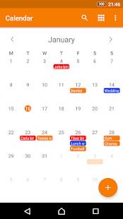 Schlichter Kalender