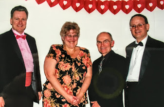 Photo: JRDC 30th Anniversary Officers, President Steven Harper, VP Karen Brewer, Member at Large, Chuck Caldwell, Sec/Treas Harry Smith