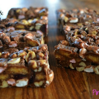 No Bake Chocolate Cranberry Marshmallow Slice