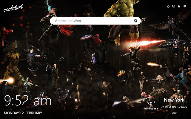 Marvel Heroes HD Wallpapers New Tab Theme
