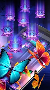 Butterflies na obrazovce 3D Launcher ? - náhled
