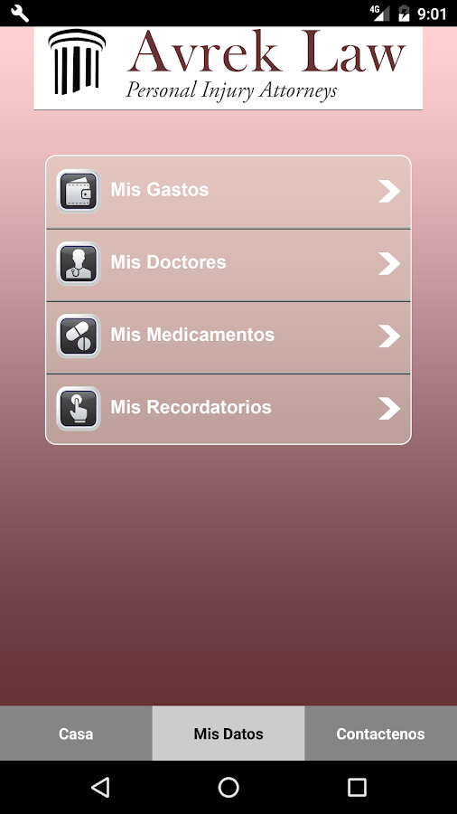 Avrek Law Personal Injury App- screenshot