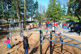 Photo: 2012 egg hunt and park playground and spray - 52