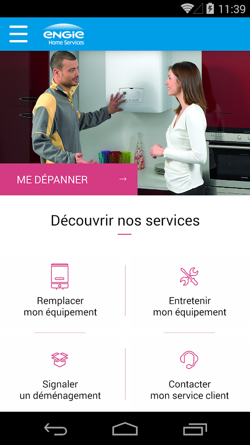 ENGIE Home Services – Capture d'écran