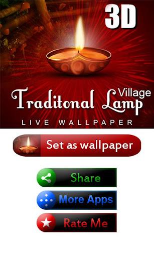 Lamp Live Wallpaper Village 3D