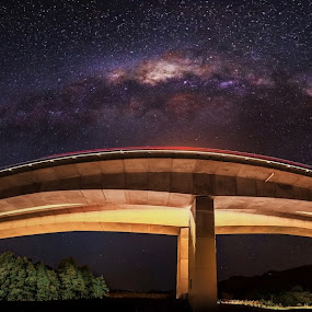 Highway to the Milky Way by Mikey Mackinven - Landscapes Starscapes