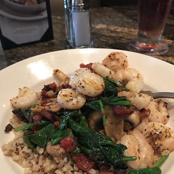 Shrimp and quinoa!  Loved it!