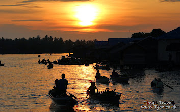 Photo: Sunrise at Lok Baintan Floating Market, Banjarmasin, Borneo, Indonesia