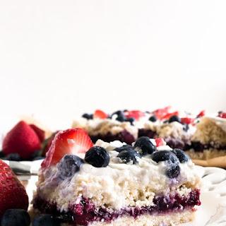 Coconut Berry Ice Box Cake