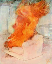 Photo: Couch on fire 2007 oil on linen 20 x 16 in