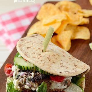 Beef and Bulgur Wheat Cheeseburger (Kibe X-Tudo).