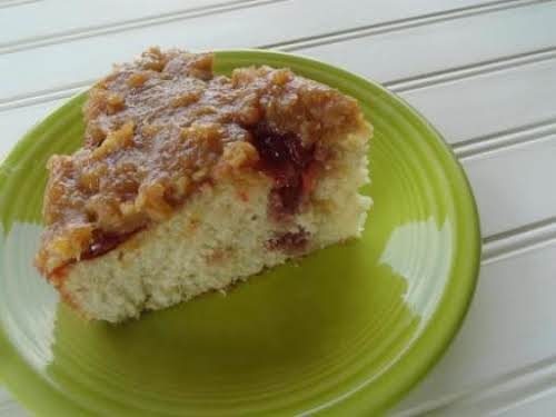 """Peanut Butter & Jelly Poke Cake """"Forget about the sandwich, have some..."""