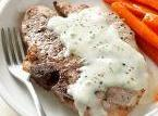 Pork Chops With Blue Cheese Sauce Recipe