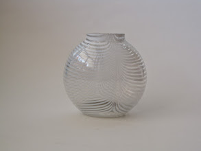 Photo: KOSTA BODA ZEBRA STRIPE VASE SIGNED BERTIL VALLIEN