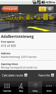 ADAC ParkInfo Screenshot