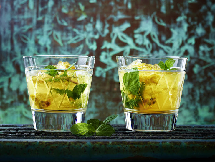 Tea Cocktail with Rum, Passion Fruit and Mint Recipe
