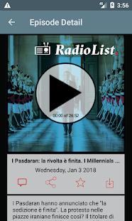 Radio List - náhled