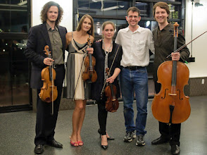 Photo: post-performance with Voxare Quartet at ICMC SUNY Stony Brook