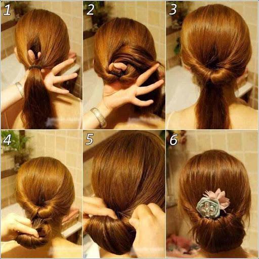 簡単なヘアスタイルチュートリアル