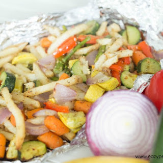 Garlic Rosemary Vegetable Grill Packet
