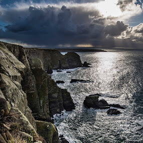 by Jim Keating - Landscapes Waterscapes ( clouds, cliffs, relax, anglesey, sea, seascape, coastline, relaxing, coastal, coast, tranquil, #garyfongdramaticlight, #wtfbobdavis,  )