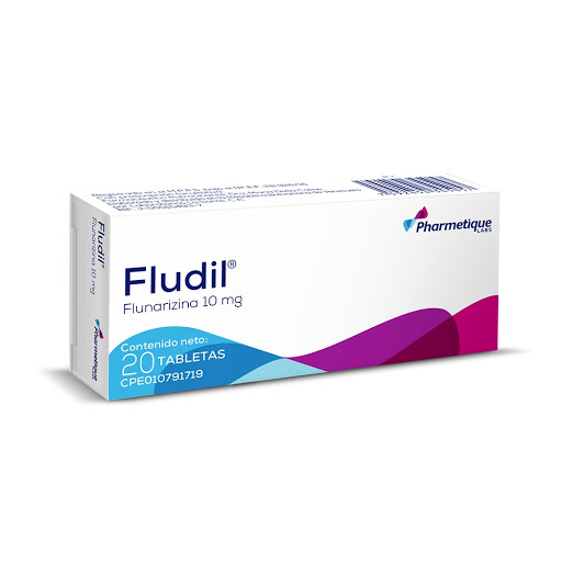 Flunarizina Fludil 10Mg Pharmetique 20 Tabletas