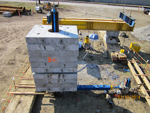 Photo: Lateral and combined test shafts during testing.