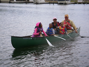 Photo: Lots of canoes this year! The resurgence of the Canoe Committee is great for folks with smaller children who can't quite manage a kayak, this really gives them a way to share in the padding fun.