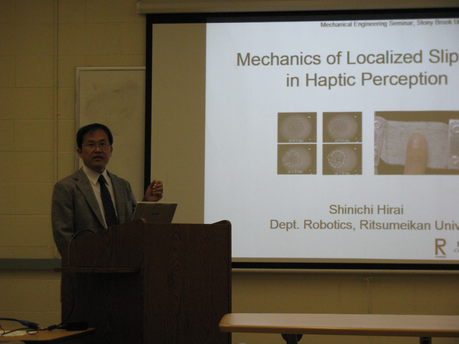 Photo: Special lecture at SUNY (May 11)