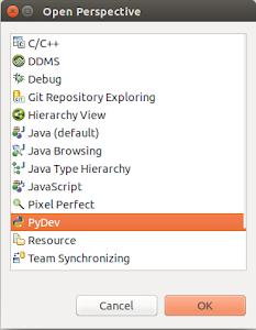 Selección de PyDev