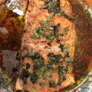 Broiled Mediterranean Salmon