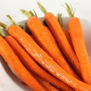 Spicy Honey Roasted Carrots.