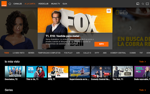 Orange TV: miniatura de captura de pantalla