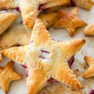 Cherries and Cream Cheese Danish Stars.