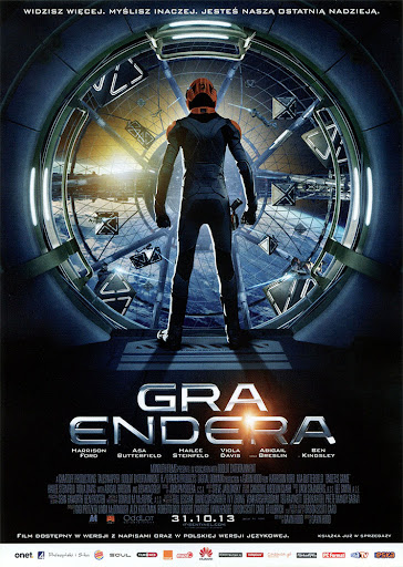 Przód ulotki filmu 'Gra Endera'
