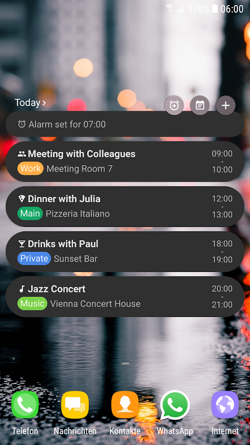 Agenda Widget (Material Design)- screenshot