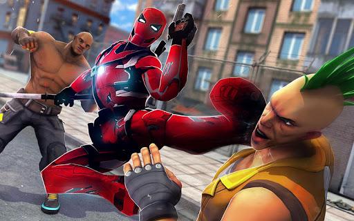 Superhero Ninja Battle: Streets Fighting Robot Socem 25 Screenshots 8