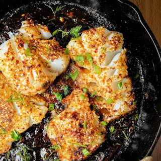 Spicy Pan Seared Fish with Tamarind Sauce.