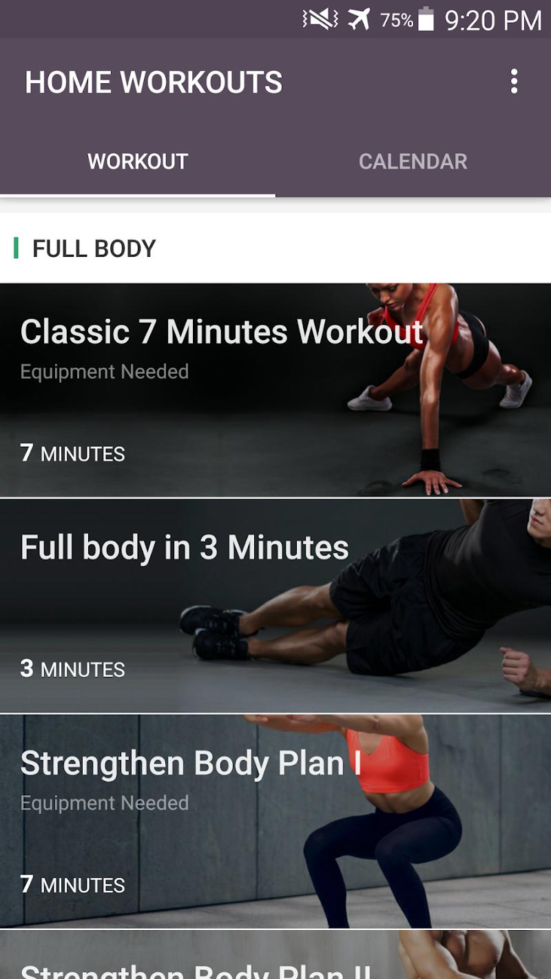 Home Workout - No Equipment & Meal Planner Screenshot 0