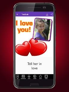 Text Lab - Text on photo screenshot