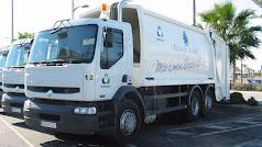Camiones de recogida de basura de Roquetas de Mar.