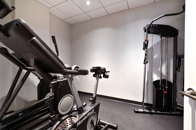 Gym at Global Luxury Suites on Harrison Avenue