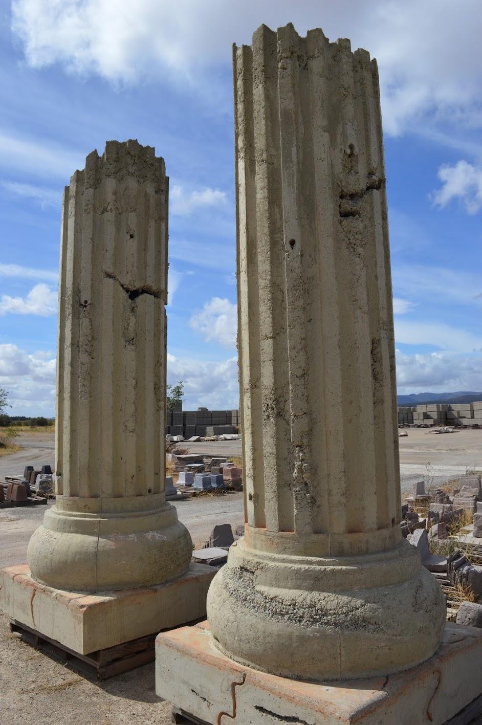 Arrecifes comerciales con forma de columna en fabrica