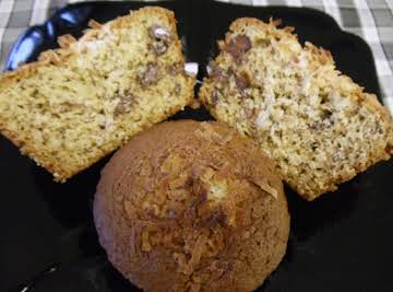 Banana Chocolate Chip Muffins with Coconut
